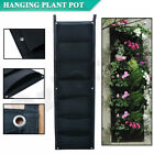 7 Pockets Planter Outdoor Vertical Garden Wall Planting Hanging Bag for Herbs
