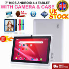 7 Inch Android Tablet 4gb Quad Core 4.4 Dual Camera Bluetooth Wifi Tablet Uk~