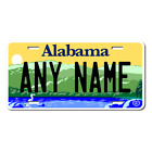 Personalized Alabama License Plate for Bicycles, Kid's Bikes, Atv's & cars Ver 3