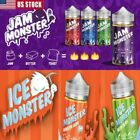 JAM MONSTER 100ML JUICE USPS FIRST CLASS + FREE SHIPPING