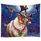 Christmas Xmas Tapestry Santa Claus Tablecloth Wall Hanging Blanket Decor Cover