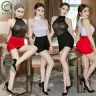 Kyпить Sexy Women Check Lingerie Secretary Uniform Cosplay Costume Bodysuit + Skirt US на еВаy.соm