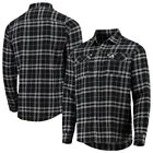 Chicago White Sox Antigua Flannel Button-Up Shirt - Black/Gray on Ebay