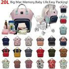 LEQUEEN Mummy Backpack Portable Maternity Nappy Diaper Bag Large Capacity Travel