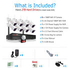 ANRAN 1080P CCTV 8CH NVR Security Camera System Wireless Outdoor WiFi 2TB Kits