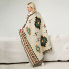Southwest Native American Indian Navajo Print Throw Blanket Sherpa For Sofa Bed image