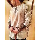 Man Medieval Shirt Celtic Viking Norman Lord Surcoat Top Cosplay Plus Size