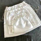 2 X Storage Drawstring Dust Bag Satin Pouch Jewelry Soft For Shoes Handbag Home