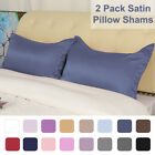 2Pcs Standard/Queen/King/European/Boudior Pillow Shams Satin Oxford Pillowcases image