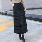 Women Thick Warmer Puffer Long A Line Skirts Padded Winter Outdoor Fashion