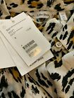 NWT & Other Stories Leopard Animal Print 100% Silk Button Front Blouse Top New