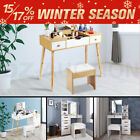 New Dressing Table Makeup Table Stool Mirror Makeup Jewellery Organiser Cabinet