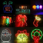 LED Neon Sign Night Light Wall Visual Artwork Bar Lamp Home Xmas Halloween MI