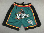 HOT Detroit Pistons Retro Mesh Green Basketball Shorts Size: S-XXL on eBay