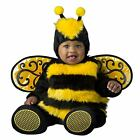 Baby Bumble Honey Bee Yellow Plush Halloween Costume + Wings Infant 0-24 months