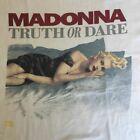 VINTAGE Very Rare MADONNA 90's TRUTH OR DARE U.S T-Shirt Tee Reprint 234XL FF749 image