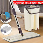 Flat Squeeze Mops Full Set Cleaning Free Hand Spin Washing Ultrafine Magic Floor