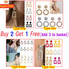 Jewelry Geometric Square Dangle Drop Earrings Studs Metal Statement Uk Fashion B