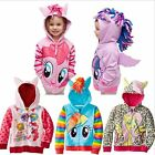 Kids Girls Hooded Hoodies Coats Jacket Tops Cute Outerwear Stylish Warm Clothes