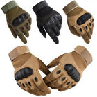 Army Military Combat Hunting Shooting Tactical Hard Knuckle Full Finger Gloves
