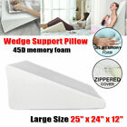 Bed Wedge Pillow Memory Foam Body Positioner Elevate Support Back Pain Leg Rest