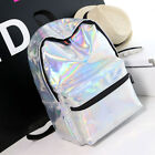 Fashion Womens Holographic Backpack Casual Travel Rucksack School Shoulder Bags