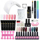 Starter Quick Poly Gel Kit with Nail Gel Polish UV LED Lamp Base Top Coat Tools  - Best Reviews Guide