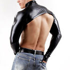 Men Body Chest Harness Belts Faux Leather Arm Shrug Fitness Cover Male Crop Tops