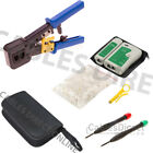 Cat6 Cat5 Quick Connector LAN Network Tool Kit Cable Tester Crimper Set RJ45