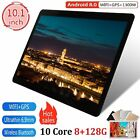 10.1'' Tablet 8G 128G Android 8.0 Bluetooth 3G WiFi PC Dual Camera GPS Phablet