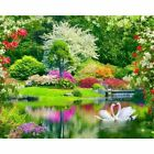 Swan Lake Diamond Painting Garden Designs Embroidery Pattern House Wall Displays