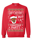 Tupac 2Pac Ain't Nothing But A Party Santa Funny Ugly Christmas Sweater Gift