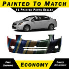 NEW Painted To Match Front Bumper Replacement for 2007-2012 Nissan Sentra w/ Fog