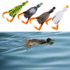 1PC Duck Soft Fishing Lure Top Water 3D Simulation Floating Artificial Bai* image