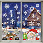 Christmas Window Stickers Removable Reindeer Snowflake Home Shop Decal Decor