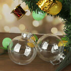 10-60X Clear Plastic Ball Baubles Sphere Fillable Christmas Tree Ornament Xmas