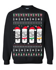 Santa Clause White Claw Cans Seltzer Ugly Christmas Sweater Sweatshirt Gift