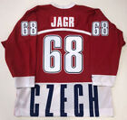 Vintage Jaromir Jagr 68 Czech Republic Hockey Jerseys Custom Names Hockey Gifts