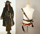 Pirates of The Caribbean Jack Sparrow Cosplay Costume Outfit Belt Buckles Prop