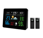2 Sensor Wireless Weather Station Alarm Clock Hygrometer Calendar Indoor/Outdoor