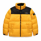 National Geographic Mens Bison RDS Duck Down Short parka Jacket - Yellow