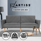 Artiss Sofa Bed Lounge Futon Couch 3 Seater Sleeper Day Beds Fabric 193cm