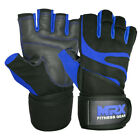 Men Weightlifting Gloves With Wrist Wrap Weight Workout Gym/Training/Fitness MRX
