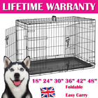 Small Medium Large XL XXL Pet Dog Cage Crate Foldable Carry Transport Carrier❤UK