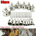 30Pcs Marble Diamond Cutter Drill Bit Hole Saw for Glass Tile Ceramic 6-50mm Set