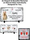 Внешний вид - Custom Pet Memorial Grave Stone Plaque Marker HeadStone Dog Cat Horse Parrot