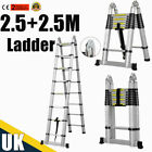 Multi-Purpose Aluminium Step Telescopic Folding Ladder Extendable 2.6-5.2M