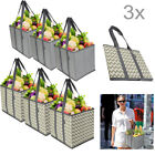 2-5x Foldable Shopping Bag Reusable Grocery Fruit Bag Washable Tote Eco-friendly