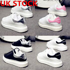 Women's Chunky Lace Up Trainers Sports Ladies Running Comfy Trainers Shoes UK3-9