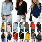 Womens Office Work Blouse T-shirts Ladies Business Solid Formal Casual Shirts